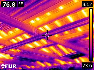 Rafters in the Infrared spectrum